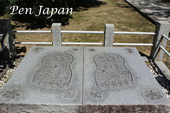 お釈迦様の仏足石