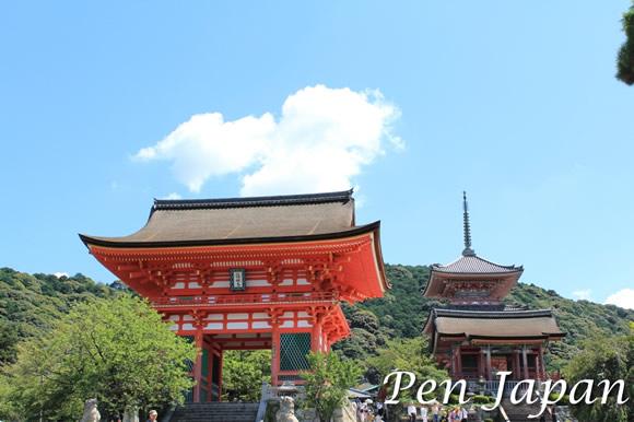 清水寺の仁王門と五重塔