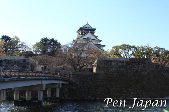 京橋口から見た大阪城天守閣