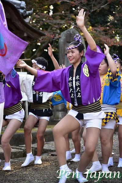 丈六寺で奉納踊り